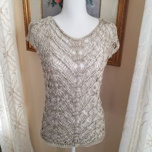 Eileen Fisher Crocheted Sweater Pullover
